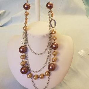 "4/$30 NWT Handmade 4-Strand Necklace Acrylic 36"""